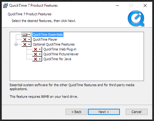 Quicktime Install 2