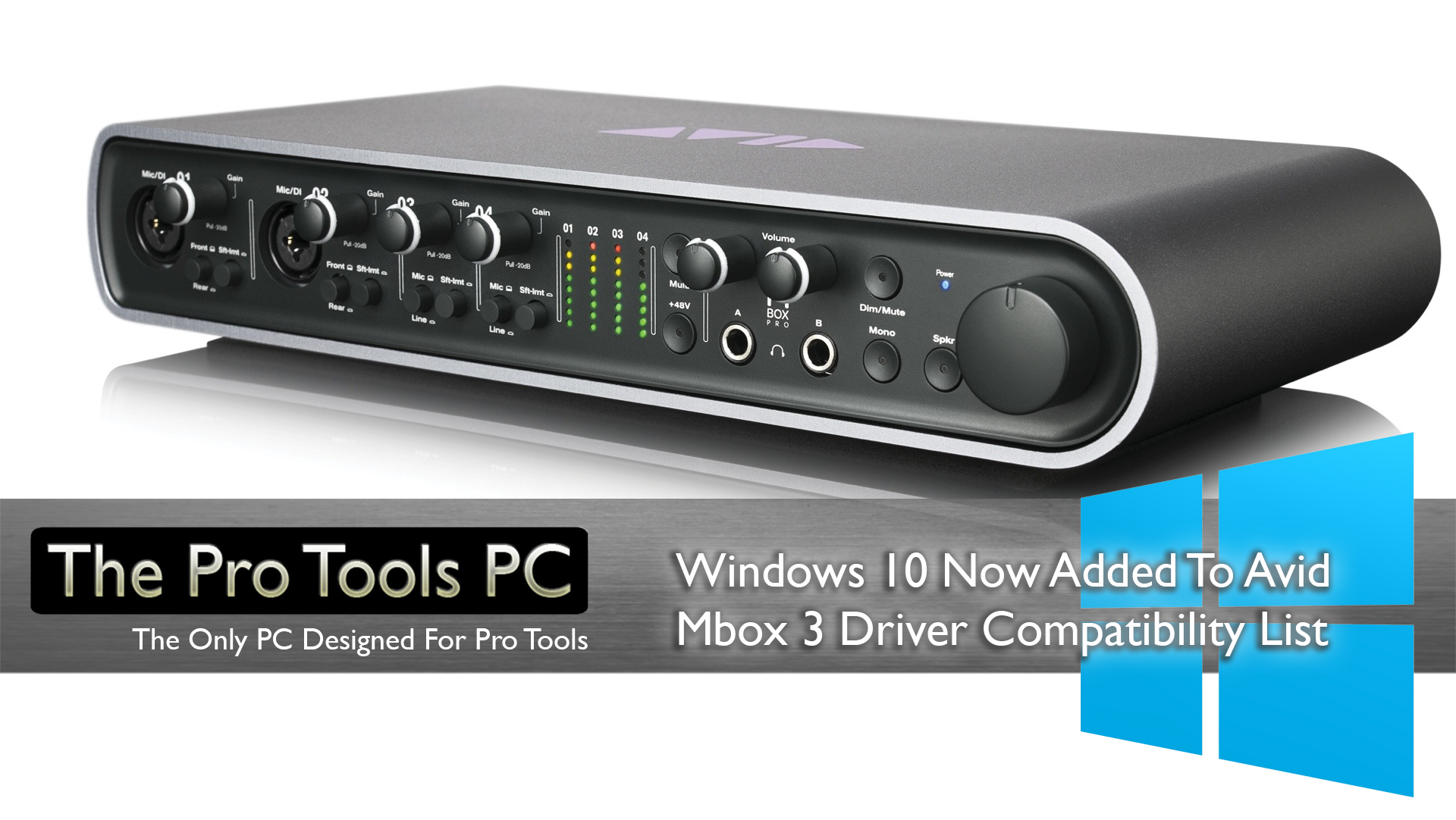 Avid Introduce Windows 10 Compatibility To 3rd Generation Mboxes