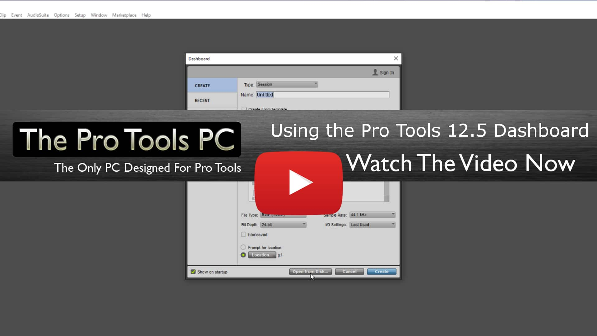 Pro Tools 12.5 Dashboard video tutorial