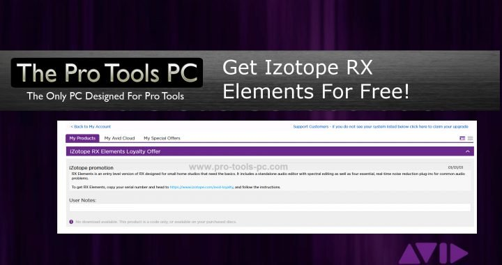 Get Izotope RX Elements for Free! - The Pro Tools PC
